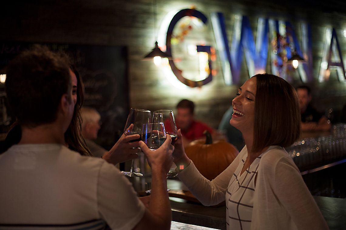 Networking At Night At GWIN Wine & Beer In Scottsdale